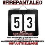 Its Day 53 & #OurCity still lets cops who kill keep their jobs. Time 2 #FIREPANTALEO! @BilldeBlasio @CommissBratton http://t.co/hF8FPJQ6dP
