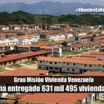 Gran Misión Vivienda #Venezuela ha entregado 631 mil 495 viviendas http:/tlsur.net/1y1LSIt #0HambreEnVenezuela http://t.co/uKboSL5Utk