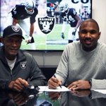 Official press release as the Raiders have re-signed FS Charles Woodson: http://t.co/zUhE9UGqS6 http://t.co/w7BVP8T3Cu