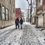 Cobble Stone Street in the Snow  ❄️Stay Warm #Hoboken  Photo taken at corner of Court St. & 1st St. by @BrobokenBlog http://t.co/2KdnNLIw11