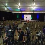 Media setting up for #Seahawks Head Coach #PeteCarroll press conference at team hotel. #SB49 #Q13FOX http://t.co/2xgsMOkiuc