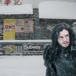 """Id laugh when they said """"Winter is Coming."""" Now whos Laughing!!! @HBO @GameOfThrones #SNOWPOCALYPSE http://t.co/KxOimMSQke"""