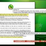 [#CAN2015] En cas dégalité lors de Cameroun/Cote dIvoire et Guinée/Mali, les 2 qualifiés seront tirés au sort ! http://t.co/w4ATWlj0aX