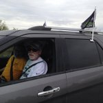 Just bumped into some #Seahawks fans in the middle of #Arizona on the road to #sb49 ! #NEvsSEA http://t.co/xRMiD5jYqX
