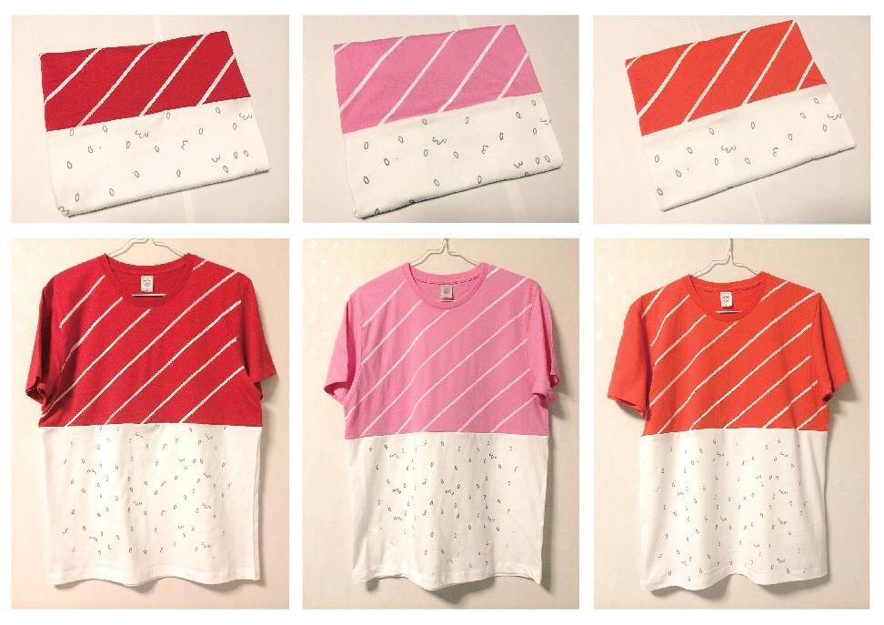 実はTシャツもあります。畳んでも寿司!!着ても寿司!!君が寿司!!そんな浮かれ気分でいかがでしょう  パーティーに着て行けば出オチになること間違いなし!  http://t.co/Zv3PNOK2Lt http://t.co/QNpHETjynl