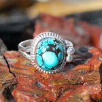 Amazing #Spiderweb #Turquoise #Ring Set In Sterling #Silver http://t.co/BlUCk7MdHe #jewelry #boho #style http://t.co/2NdO04yRus