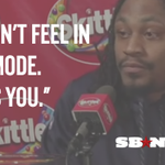Marshawn Lynch will answer all your questions as long as it is a Skittles press conference: http://t.co/xt7WKka2Wq http://t.co/t9RbwIMOCo