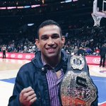 Clipper Nation - The Champ is in the building. Lets welcome Vai Cavalo @FabricioWerdum to STAPLES Center. http://t.co/j14VQqURnC