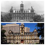 Didja know? The North-facing clock at City Hall is frozen at 9:04 to commemorate the time of the Halifax Explosion. http://t.co/LLvUktUh2E