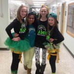 Students and teachers show their SPIRIT by wearing green and gold. http://t.co/LdV9ewoOHq