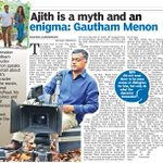 Ajith is a myth and an enigma- @menongautham : DC | #YennaiArindhaal http://t.co/UzdyZEqpfW