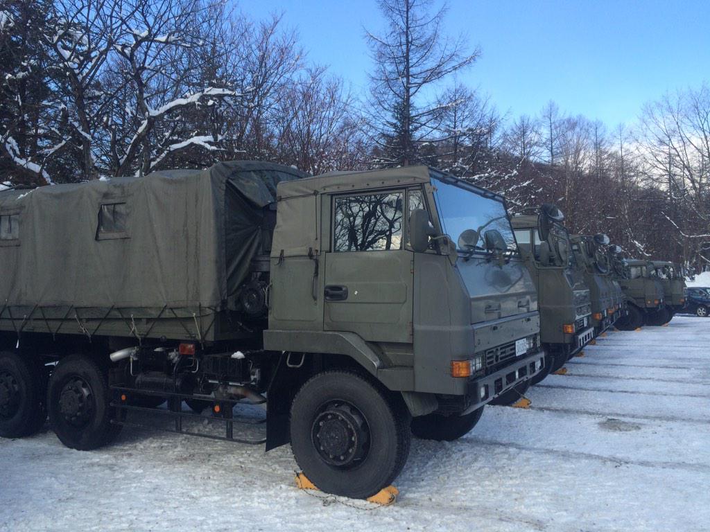 自衛隊の隊員の皆さんが雪上訓練に草津国際スキー場にいらしています! 皆さん、安心してお出掛けください。 http://t.co/AeiGV9bKL8