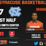 Orange & Heels tied up at the first media timeout in Chapel Hill http://t.co/3n5BOeYVzG