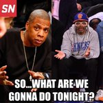 Jay Z and Spike Lee had the same reaction when the Nets and Knicks games were postponed due to the blizzard: http://t.co/FDQMUzASlg