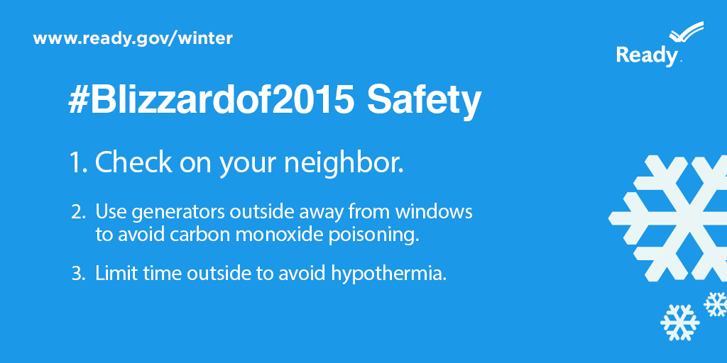 #Blizzardof2015: Three Steps You Can Take in 10 Minutes to Stay Safe