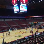 Calm before the storm at Hilton Coliseum. Texas vs. Iowa State at 9 EST @ESPN. http://t.co/JpoIzakPRt
