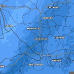 "Starting to se 1-2"" per hour snowfall rights along I-395.  About 1"" per hour in Hartford. http://t.co/a8awYQIODM"