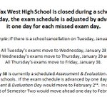 Snowmaggedon is not on the Science 10 exam...but it is forecast for tomorrow. No school on Tues. Exams move to Wed. http://t.co/Gykq8KoTvl
