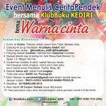 Event menulis,yuk ikutan  http://t.co/HAKMW7YymA @infobuku_com @KI_Kediri @Wawankondo http://t.co/ZcMneyhSld