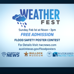 Be sure to make plans to come out to #Weatherfest in #Austin on Sunday, Feb. 1st from noon until 3 pm! #fun #free http://t.co/LxIav6x2Hz