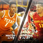 No. 19 Texas and No. 15 Iowa State tangle tonight in Ames with both teams looking for bounce-back victories. http://t.co/w72CyLjr4v