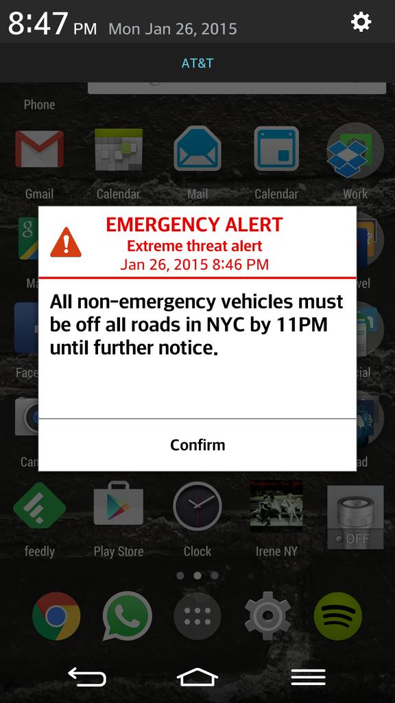 En estado de alerta. La notificación que ha llegado hoy a todos los móviles. http://t.co/eiifnFKPH0