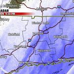 Heavier snow band (in darker blue) just about moving into the Hartford area now. http://t.co/0cxUSuCuGJ