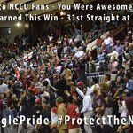 THANK YOU #NCCU FANS!!! You earned this #NCCUMBB win tonight with your energy. #ProtectTheNest http://t.co/ECE9pM7jH1