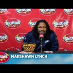 VIDEO: @MoneyLynch finally talks to the media, answers crazy questions for @Skittles http://t.co/HnNYVHYu0Q http://t.co/oy3Dw30aXY