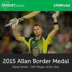 Congrats @stevesmith49, Australias ODI Player of the Year! Watch LIVE: http://t.co/a86RM9ylC1 #ABMedal http://t.co/c0Xe7zTqn1
