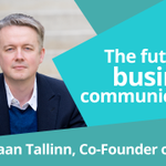 Watch this #video #interview with Jaan Tallinn about the future of business #communications https://t.co/RHN5ecFgbj http://t.co/VGCLSklqiK