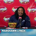 Video: Marshawn Lynch finally talks to the media in Skittles press conference. Watch > http://t.co/QKu3Dy8dyD http://t.co/iWDz4IaYRE