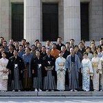 .@jimin_koho 湯川さんが殺され、後藤さんの生命も危険なのに、晴れ着で記念撮影の無神経、人命軽視に強く抗議します。 和装振興議員連盟 伊吹文明「国民衣装である着物を着て、国民が一致結束してテロ組織に対応している姿を示す」 http://t.co/mS46Q9G9h9