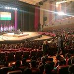 All set for the address by US President @BarackObama at Siri Fort #delhi. #ObamainIndia http://t.co/LlPr1lcHye