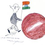 Tribute to a legend. #rklaxman sent this delightful gift to ISRO a couple of weeks back. http://t.co/rvwejax4rF