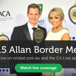 Watch tonights Allan Border Medal ceremony LIVE from 6:50pm EDT right here: http://t.co/a86RM9ylC1 #ABMedal http://t.co/AZXglVSL0H