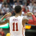Monte Morris hulking up. Photo by @ReeseStrickland. #Cyclones #Big12 http://t.co/sIDObOHIgl