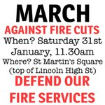 Solidarity to @savelincslibs protest today.  Save our libraries, defend our fire services, unite against all cuts! http://t.co/h5eT1wH5LY