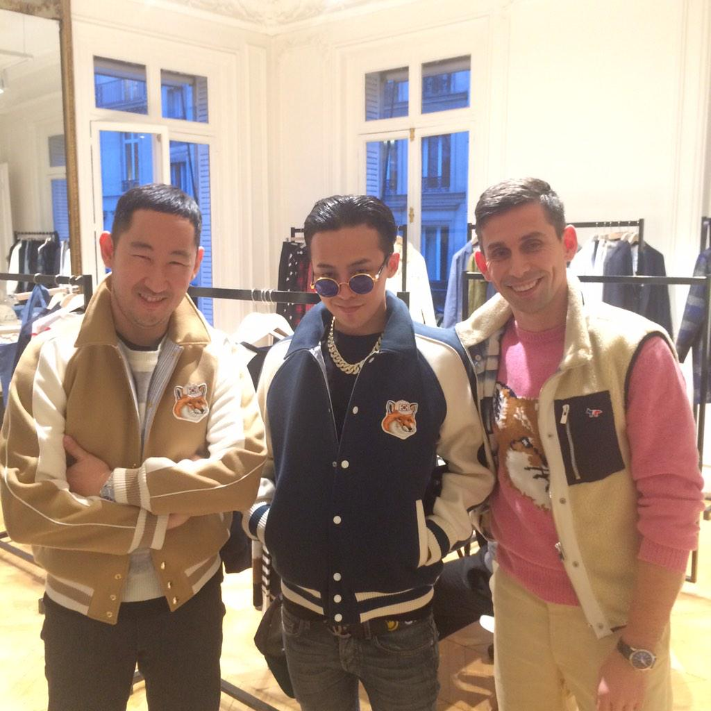 .@IBGDRGN stopped by our #pfw showroom to meet our new Koeran fox !