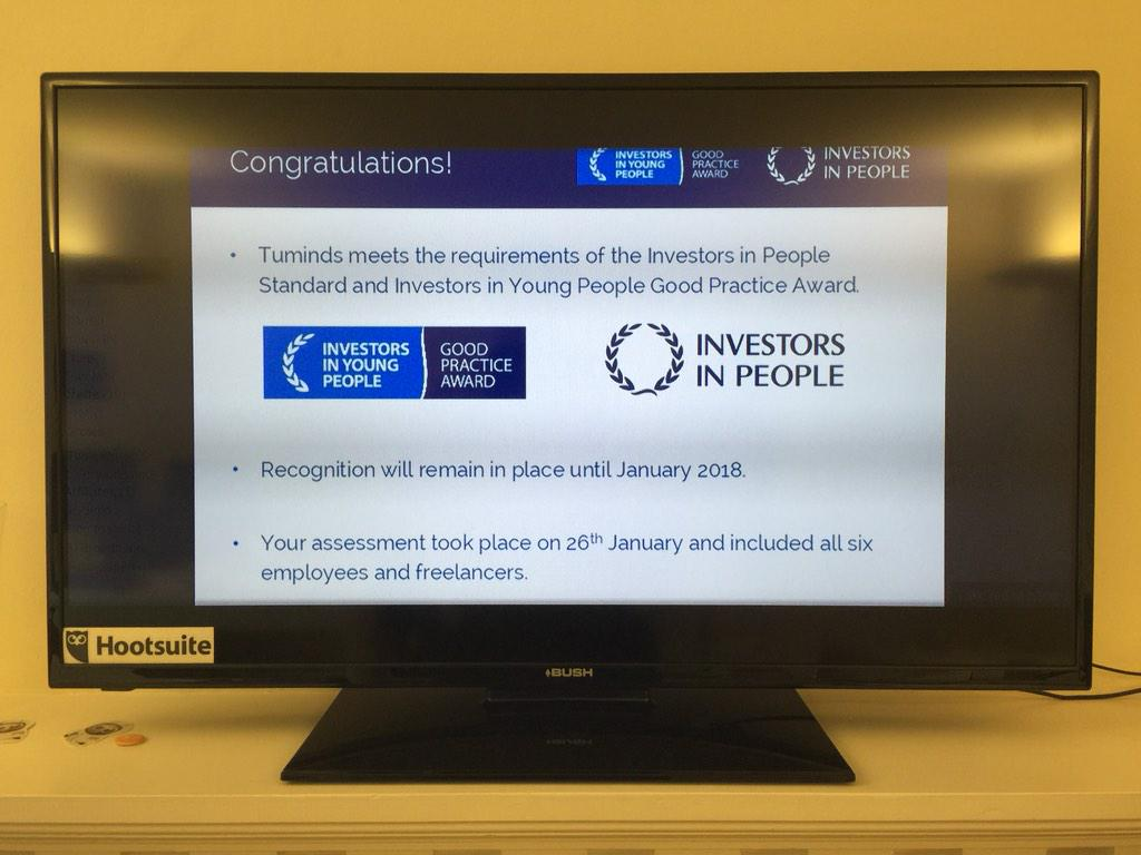 Woohoo! Just heard great news from @Ruth0ulton we've been awarded @IIPScotland and @IIYPScotland! #delighted! http://t.co/BY7Hh8PmrO