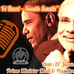 8PM: Special episode of Mann Ki Baat with PM @narendramodi & US President @BarackObama at http://t.co/68z9y0I2F8 http://t.co/X8AUAW3YB1