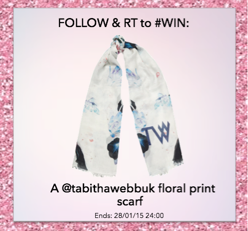 Brighten up your month with a chance to #win a TW floral print scarf. Simply RT and Follow @tabithawebbuk. Good Luck! http://t.co/4nGbLg3G9k