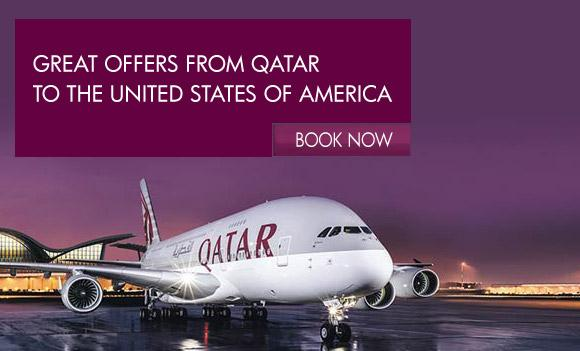Great offers on flights from Qatar to the USA with QatarAirways. Visit