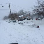 Picture: Scene of eastern Long Island #NY: RT@StormhunterTWN: The plows have by. Ooops for these guys.#blizzardof2015 http://t.co/yABtTY5cNy