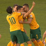 Trent Sainsbury celebrates his first goal for the Socceroos. What a start! -0 http://t.co/ZzTzyp1eaF #AUSvUAE http://t.co/eP75jSusjz