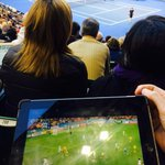 Sitting on centre court, filing on Socceroos. Go figure. #AusOpen #AsianCup http://t.co/it1G5Gqc2O