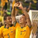 14 GOALLL for @Socceroos! Persistence pays and @jasondavidson29 scores his first goal. #AUSvUAE #AC2015 http://t.co/BOPeP7ONVv
