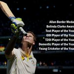 Steven Smith's golden year continues as he dominates the Allan Border Medal night. Full list of winners: