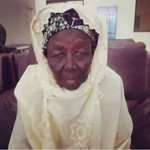 """""""Hajia Mai Talle, 90 years old woman. She waited 9 hours for Buhari to come to Kebbi and donated 1m to his campaign http://t.co/TefhjwWx3Q"""""""