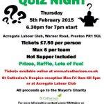 Mayor of Preston charity quiz night in aid of @StCatherinesPre - please support @prestoncouncil @blogpreston http://t.co/LAzOiKQf01